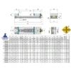 Kép 2/2 - Moduláris gépsatu 150X300, HRC 60÷62 keménység, 0,015 tűrés, MS vegyes, a rögzített pofa SP rögzített pofabetéttel és a mozgópofa ferdesíkú MP pofabetéttel