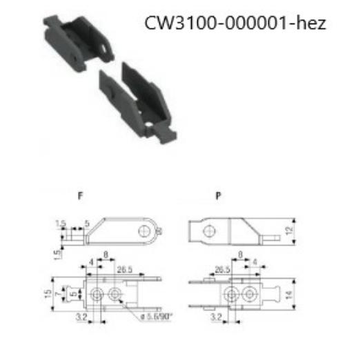 Végelem CW3100-000001 energialánchoz F típus