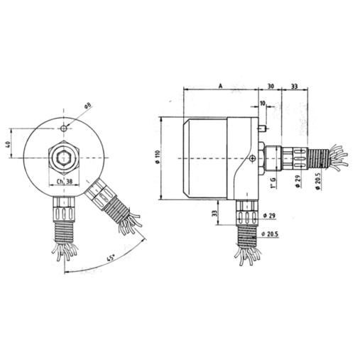 BCP 7 - Csúszógyűrűs áramszedő, IP65, 10A, 7 gyűrűs