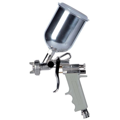 Hagyományos, kézi, festékszóró felső alacsony nyomású E70  fúvóka Ø 1,6 mm 500 cm3 tartály Alumínium