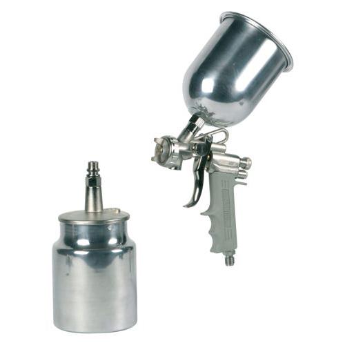 Hagyományos festékszóró két alumínium tartállyal alsó és felső alacsony nyomású   fúvóka Ø 1,2 mm