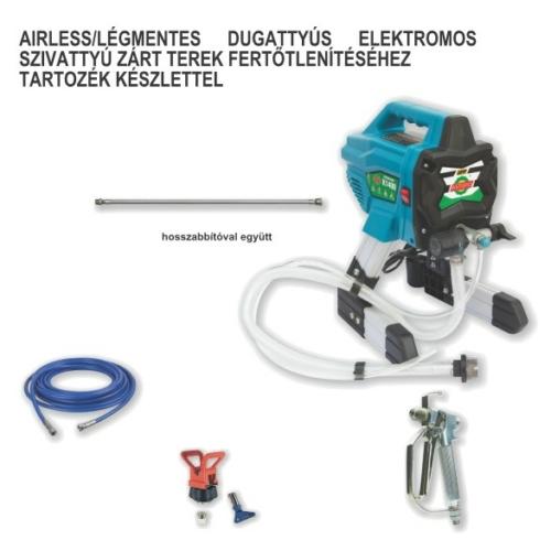 Airless/légmentes dugattyús elektromos szivattyú tartozékokkal - Zárt terek fertőtlenítésére
