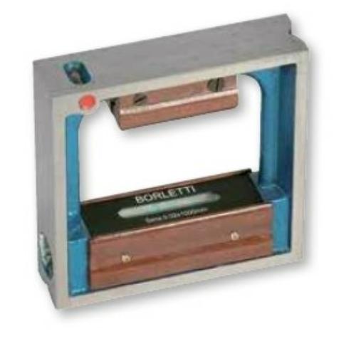 Négyzetes keretű precíziós vízmérték, 200x200 mm, 0,2 mm