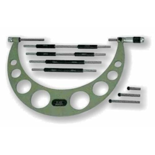 Század pontosságú, külső mikrométer, összetett rúddal, méréstartomány:  0-100mm