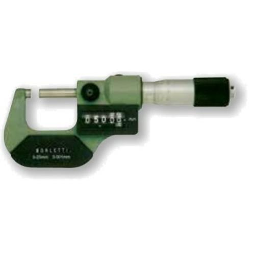 Ezred potosságú külső mikrométerek, számkijelzővel, méréstartomány: 0-200mm, készlet, egybecsomagolva