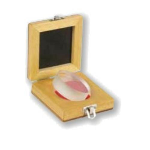 Optikai üveglencse síklapúsághoz és párhuzamossághoz