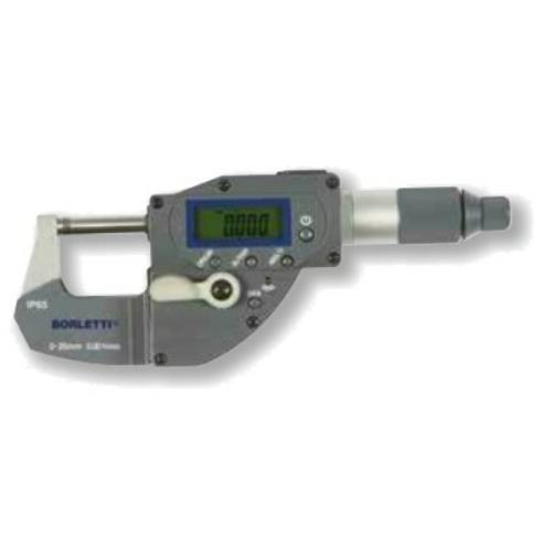 Digitális, ezred potosságú külső mikrométerek 0-25mm, IP65, Bluetooth.