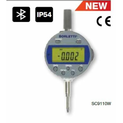 Digitális mérőóra, Bluetooth adatátvitel, 0-25,4 mm mérési tartomány, IP54, 0,001mm osztás, 0,004 mm pontosság
