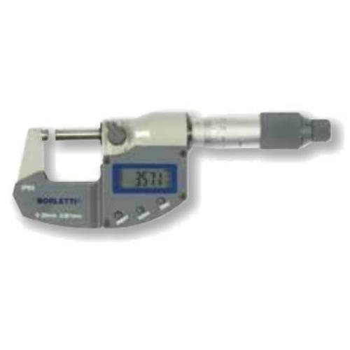 Digitális, ezred pontosságú külső mikrométerek 0-25mm, adatkimenettel.