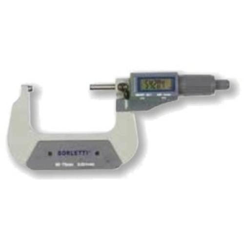 Digitális, ezred pontosságú külső mikrométerek 25-50mm, adatkimenettel.