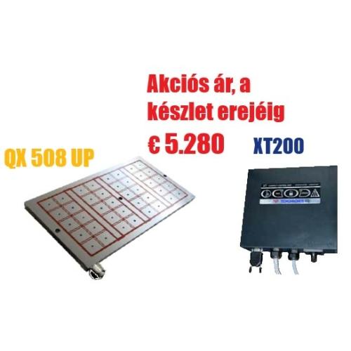Akció - Elektro-permanens mágnesasztal, 480x790 mm, 40 pólus, 25t rögzítőerő, QX 508 UP,  XT 200 vezérlővel