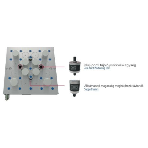 Mágneses Nullpont Rendszer - Munkadarabrögzítés, MillTec Zero - MTB 505 ZT: 500x500